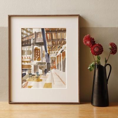 Christoph Niemann, The Highline at 15th Street (Unikat, Tusche auf Papier)
