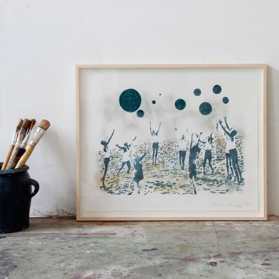Isabelle Dutoit, Verena Landau, Claudia Rößger, Miriam Vlaming, Künstler*innen-Mappe inkl. 4 Lithografien